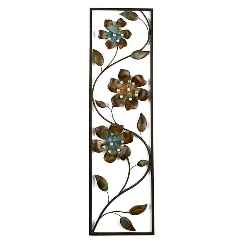 10 X 36-in Flower Panel with Jewels