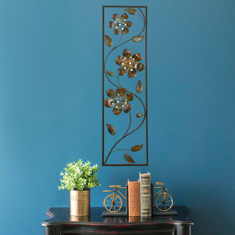 10X36 Floral Wall Panel With Bling