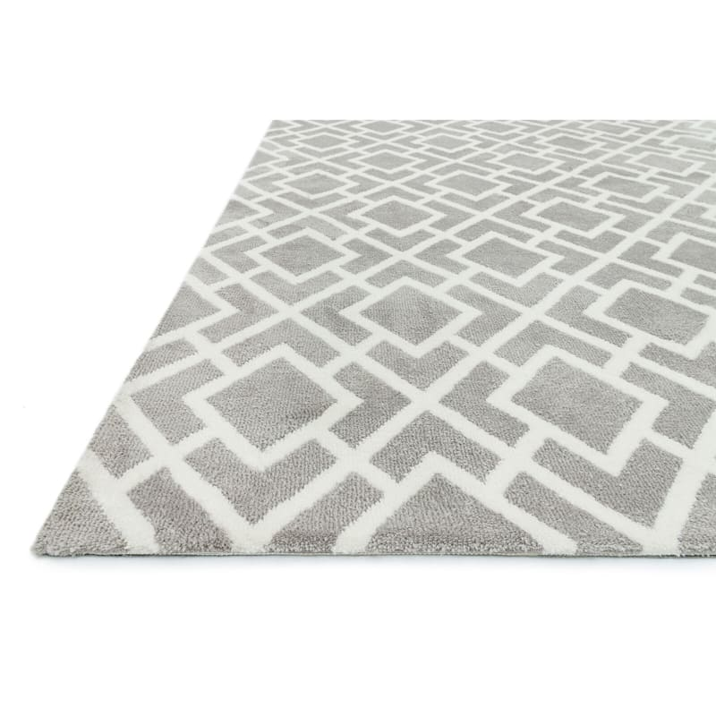 A171 Addison Ash Geometric Rug- 5x8 ft