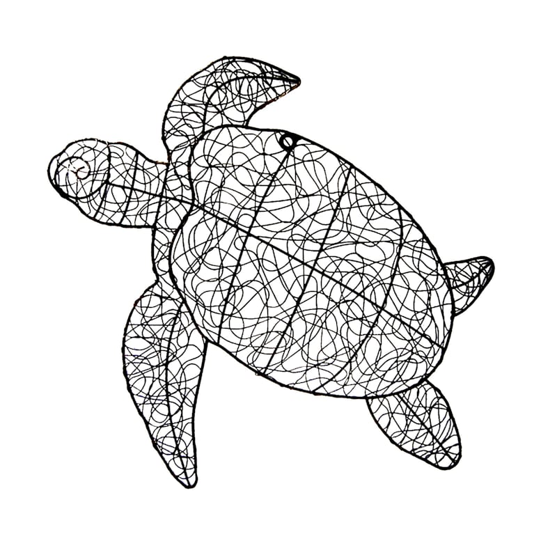 24 X 23-in Natural Twist Turtle Wall Décor