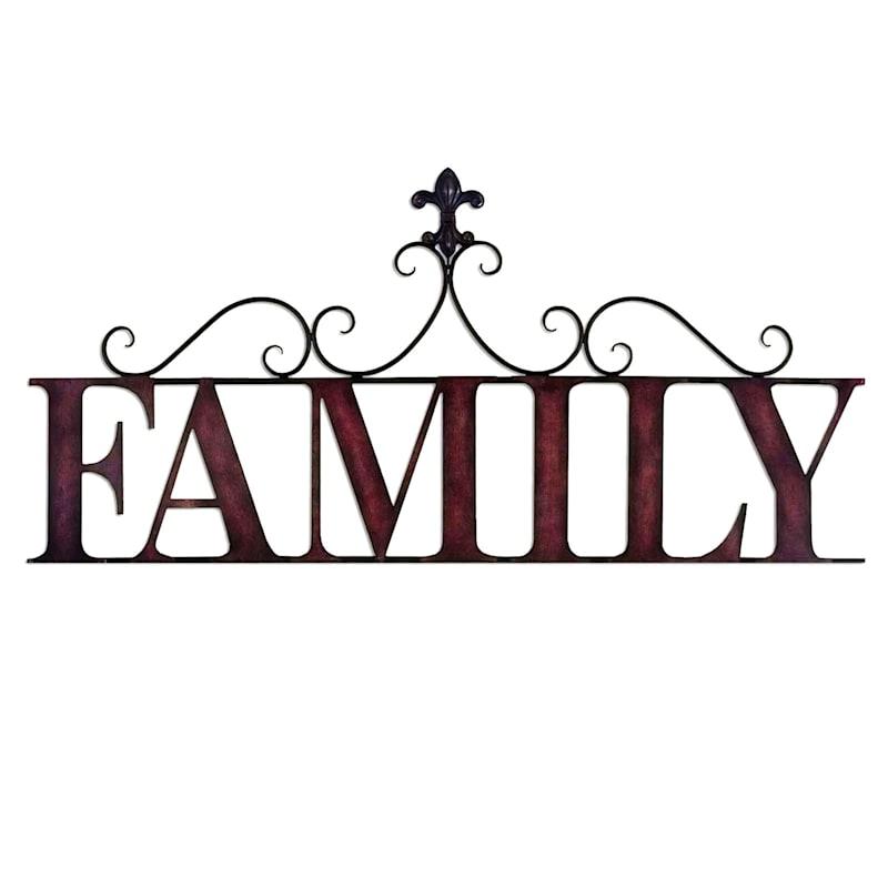 18X39 Family Metal Decor
