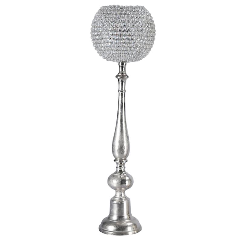Globe Crystal Candle Holder