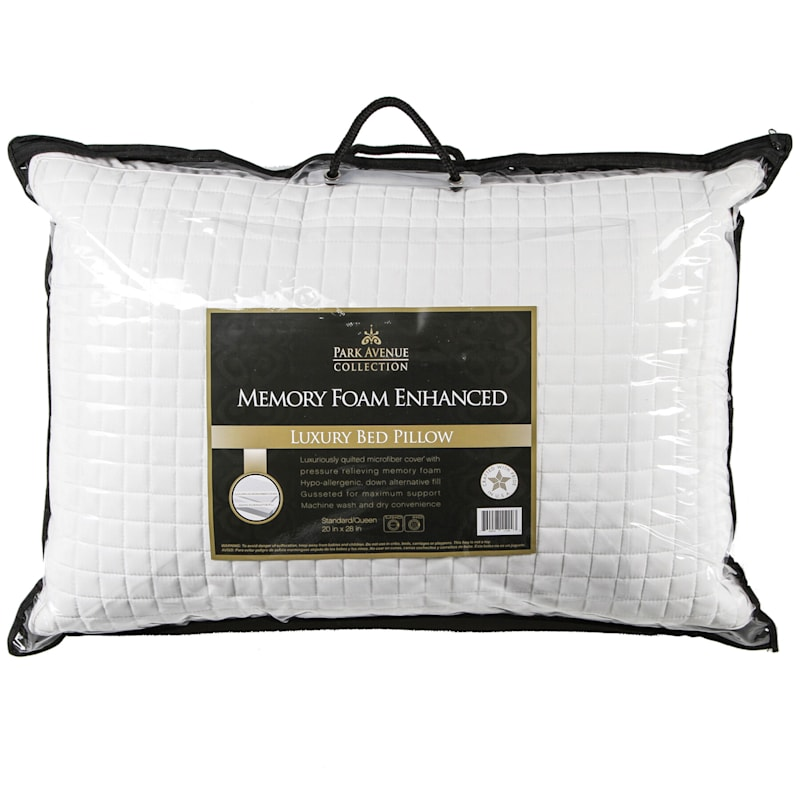 Quilted Jumbo Memory Foam Pillow 20X28