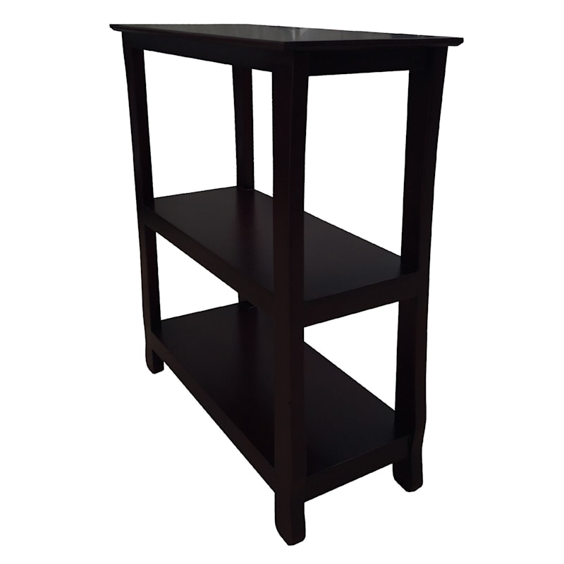 Black Three Tier Thick Leg Bookshelf