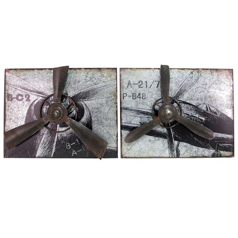 24X18 Metal Galvanized Aircraft Wall Art