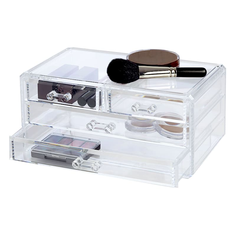 4 Drawer Cosmetic Organizer Clear