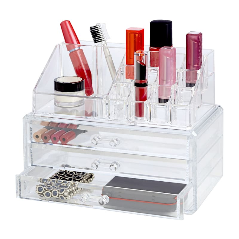 19 Compartment/Drawer Cosmetic Organizer