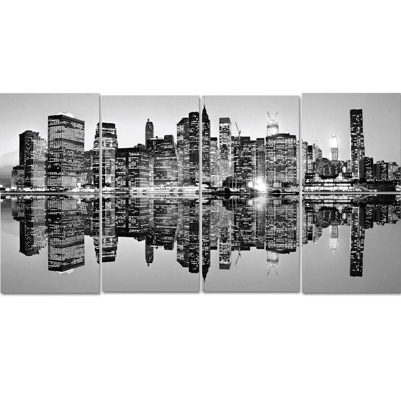 6-Piece Reflective Skyline Canvas Art Set