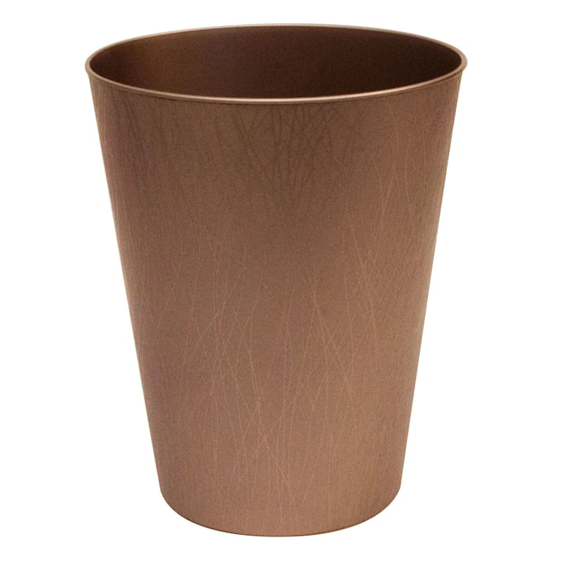Hefty 2.3 Gal Decorative Wastebasket Bronze