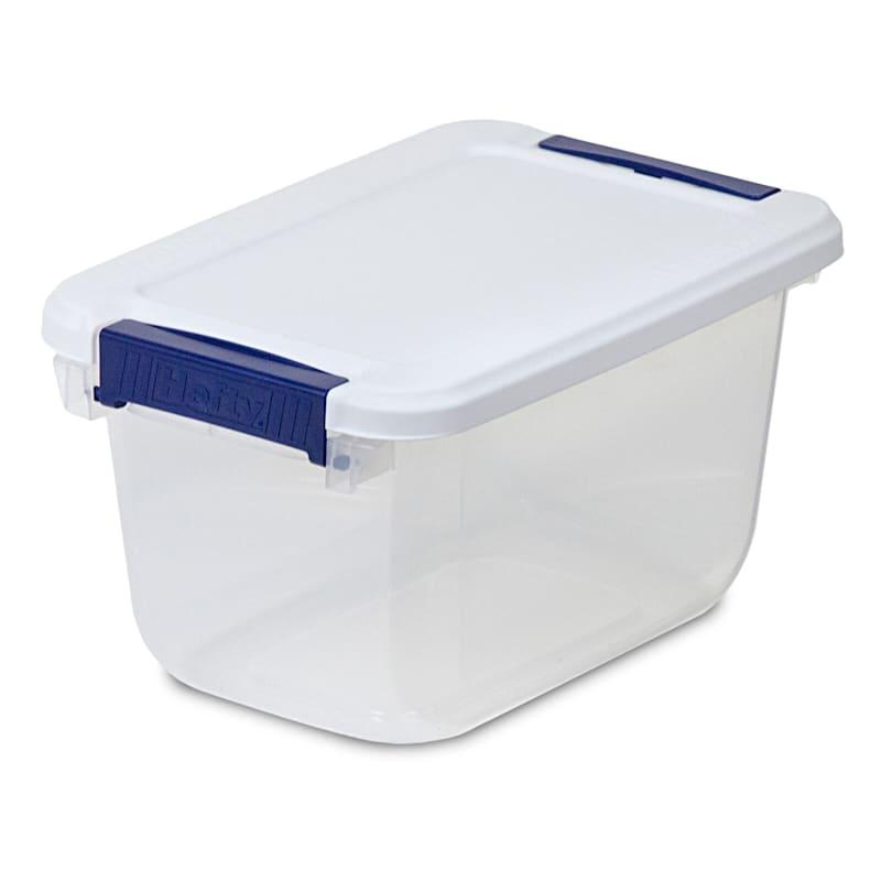 Hefty 6.5qt Storage Bin Clear/White