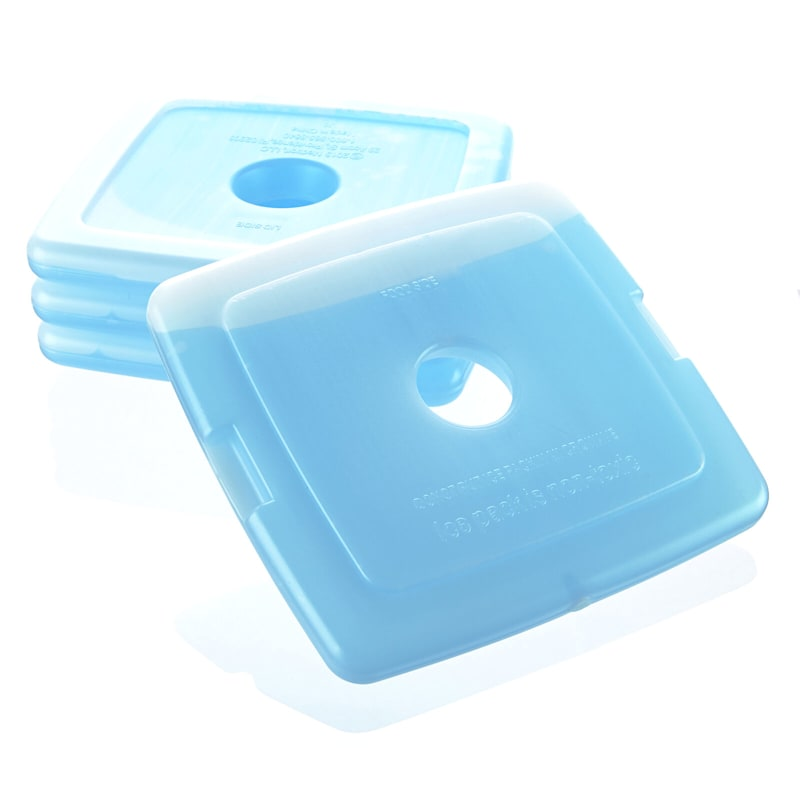 4-Piecec Ice Pack 5In Clear