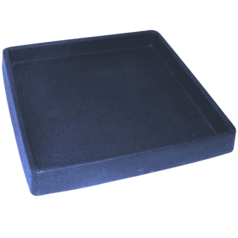 15in. All Weather Proof Polyresin Square Saucer Charcoal