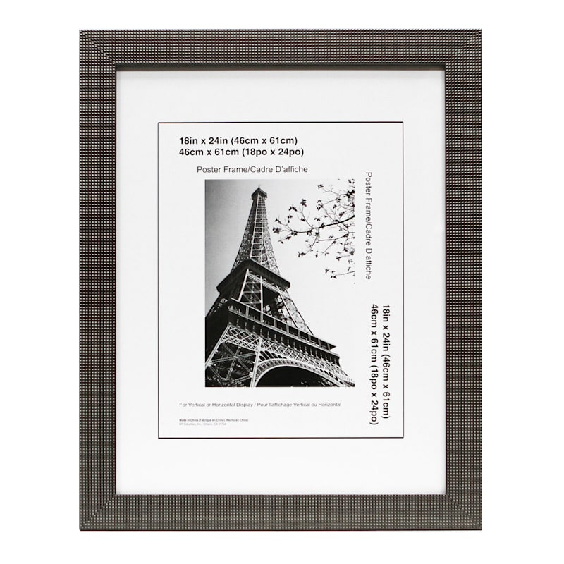 18X24 Dotty Pewter Poster Frame