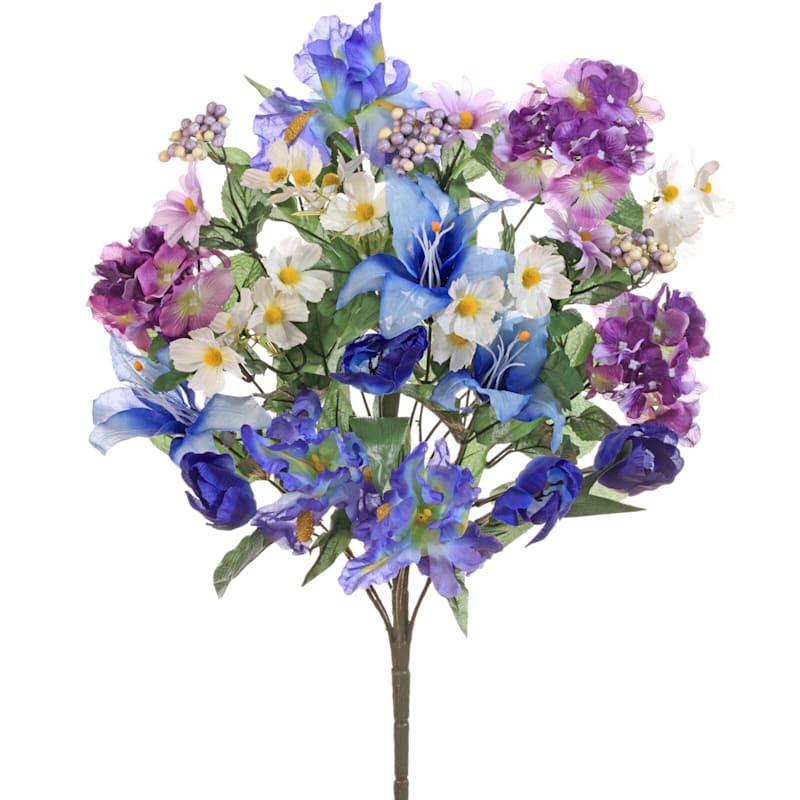 Mixed Iris and Hydrangea Bush 25-in