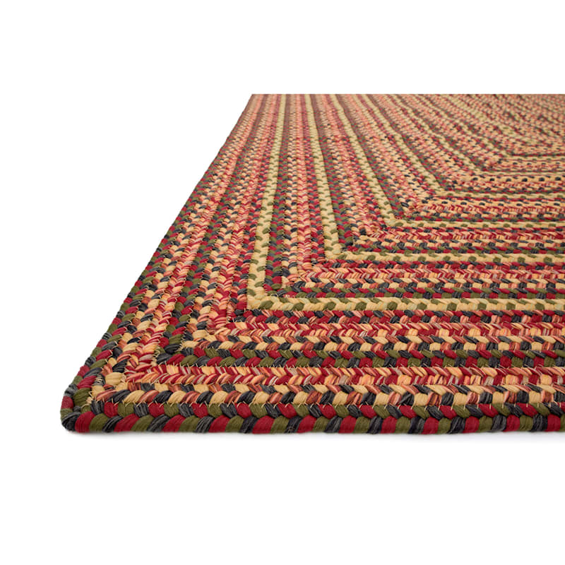 Red Braided Multicolor Rug 7.6 X 9.6 ft