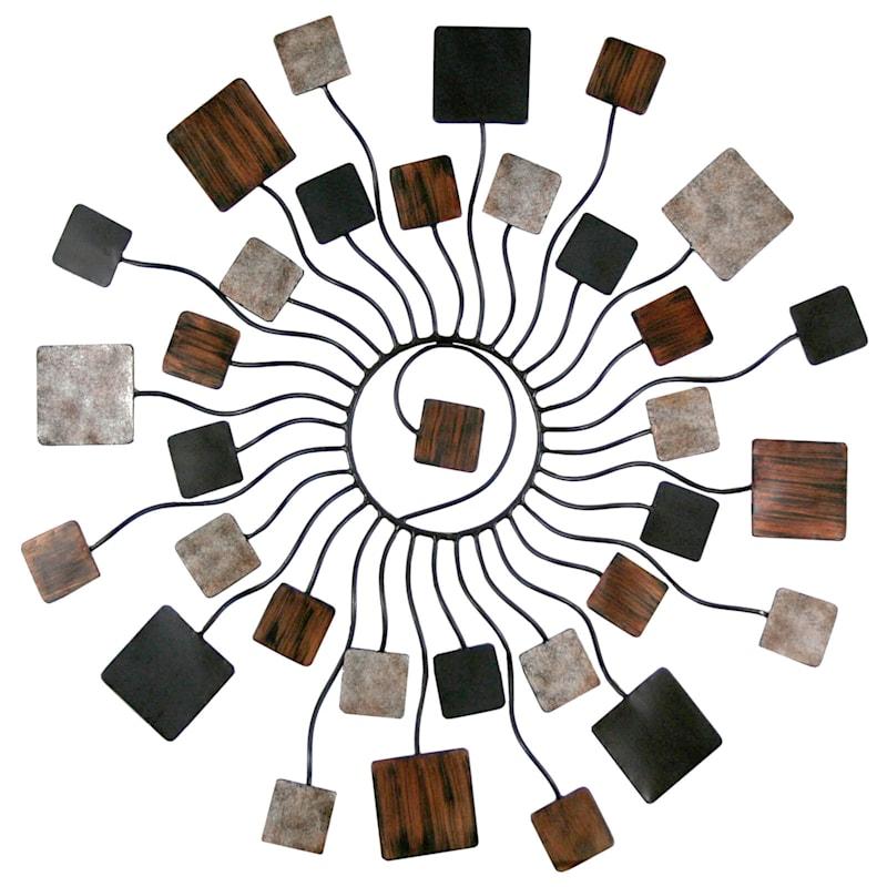 30X30 Metal Starburst Circle