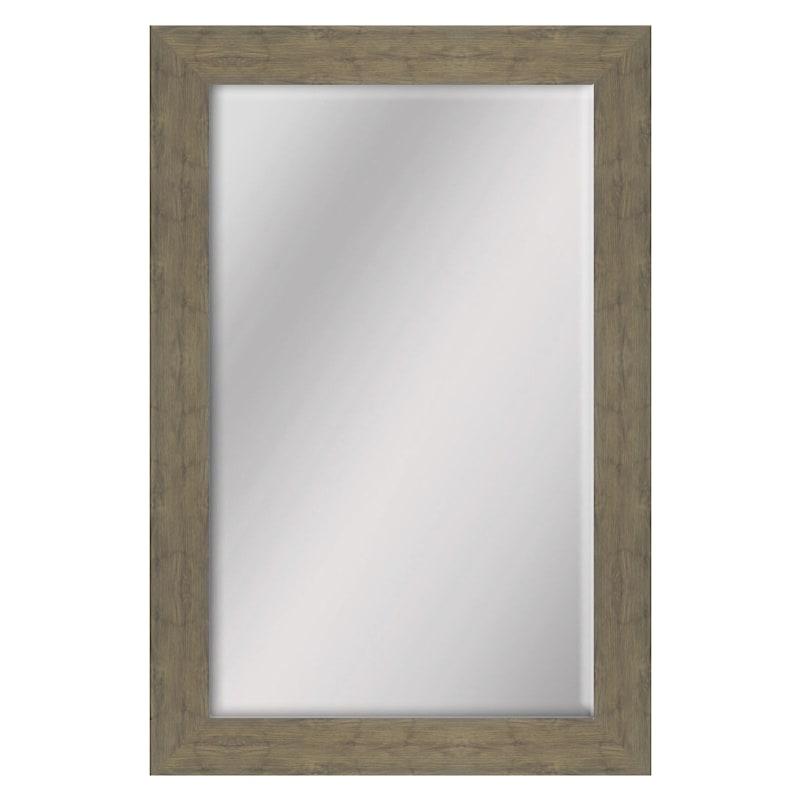 24 X 36-in Oak Wood Grain Mirror