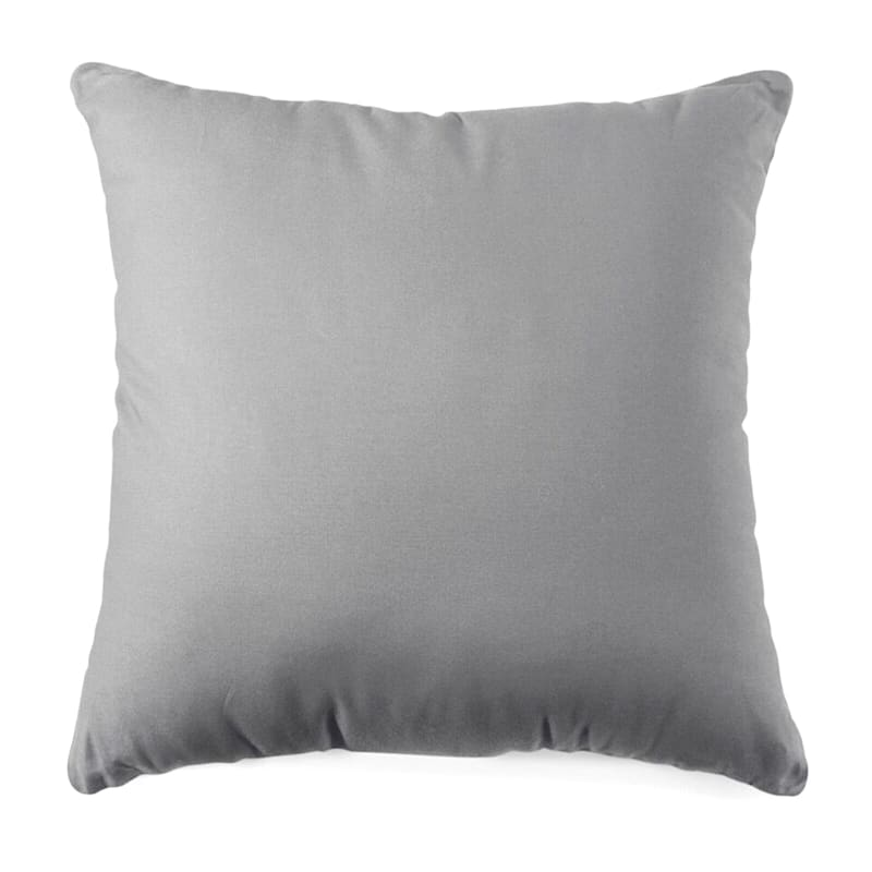 Grey Solid Color Pillow 18X18