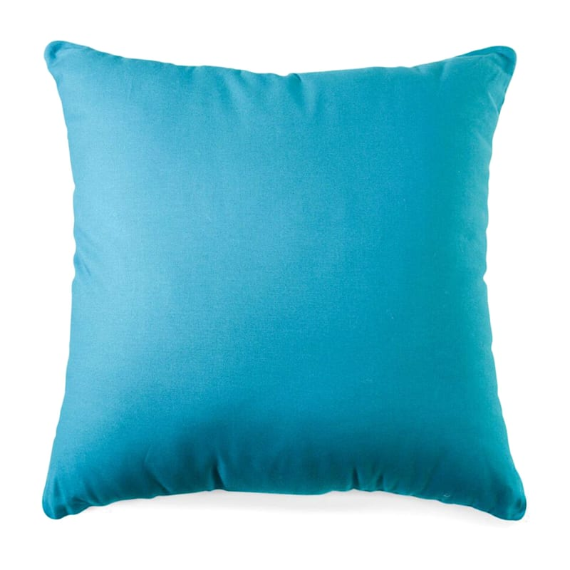 Teal Solid Color Pillow 25X25
