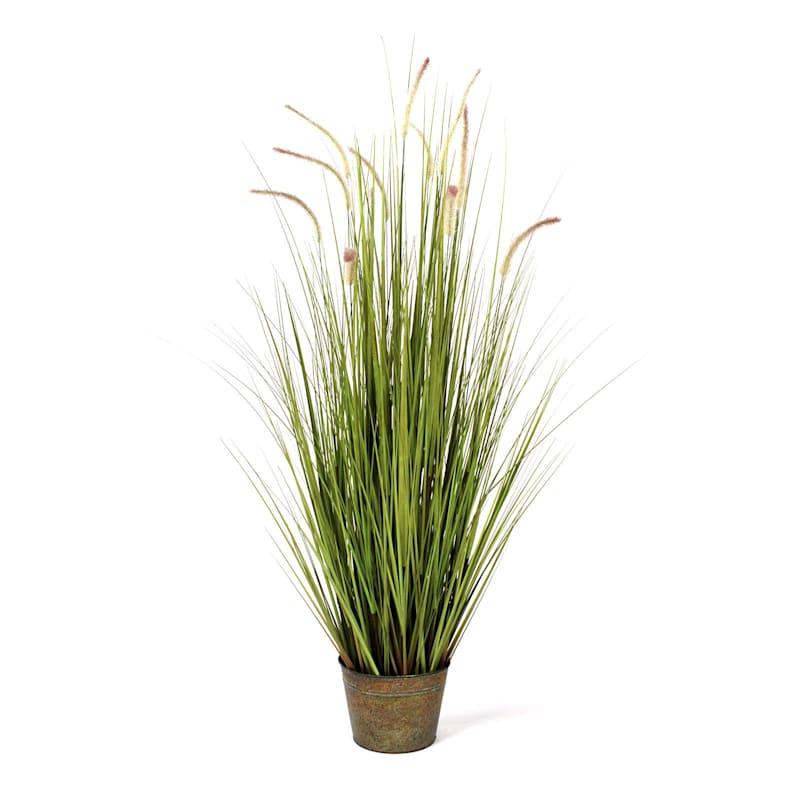 Dune Grass In Metal Pot 60 In