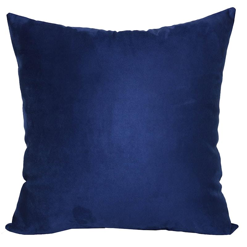 Heavy Suede Toss Pillow, Dark Blue