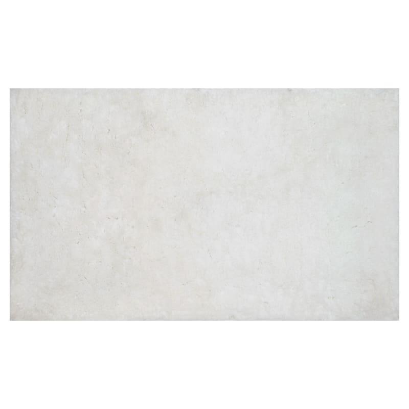 Brunswick White Tufted Bath Rug 23X40
