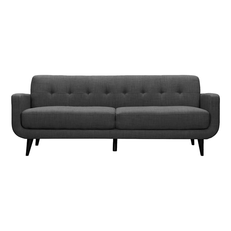 Hadley Charcoal Grey Tufted Back Sofa, 85""