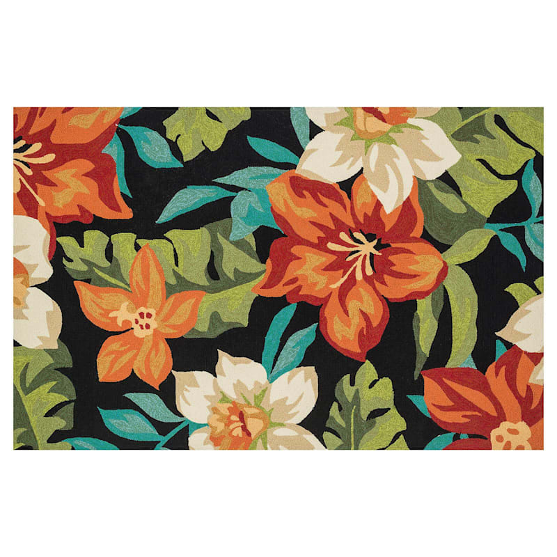 E104 Tropical Floral Rug- 8x10 ft