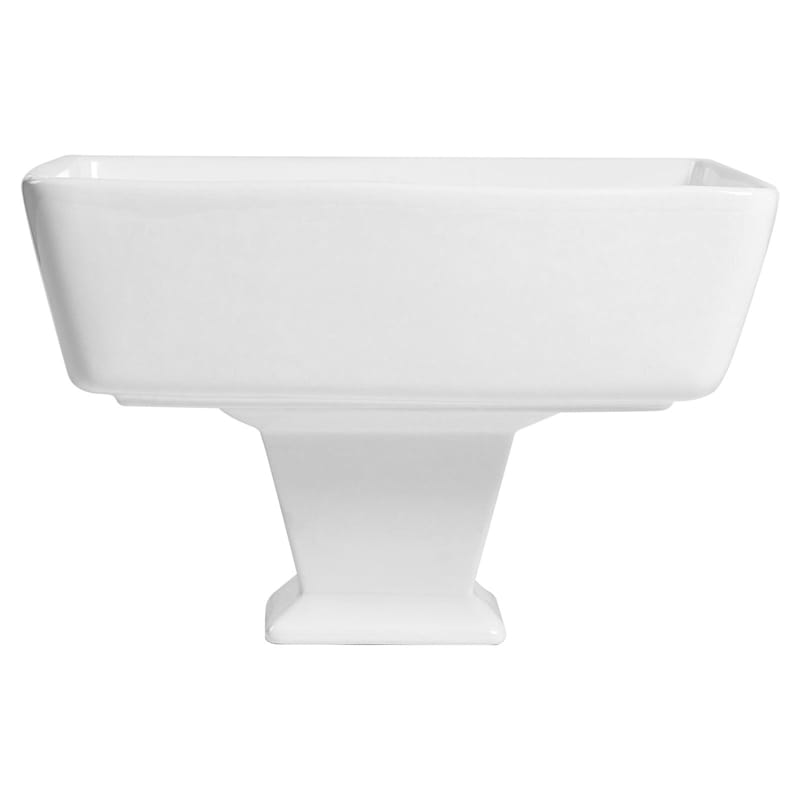 Blanc De Blanc Square Footed Serve Bowl