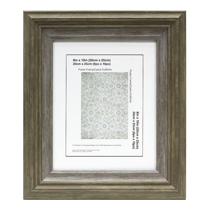 8X10 Miranda Coffee/Grey Wall Frame