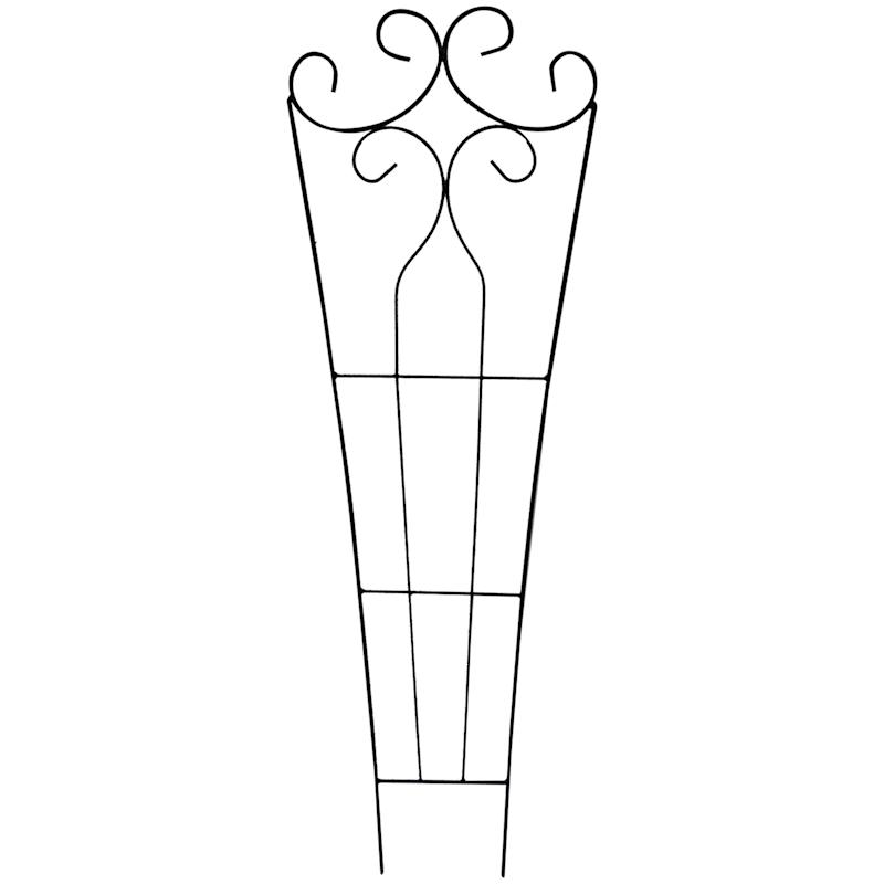 36in. Metal Scroll Top Trellis