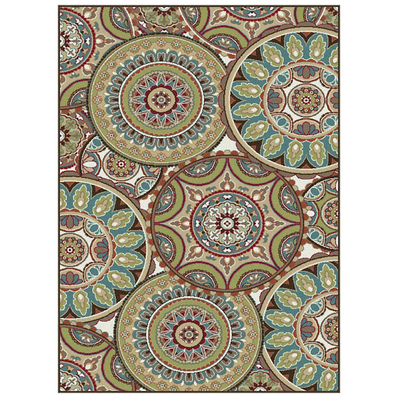 (D246) Contemporary Geometric Prismatic Area Rug, 8x10