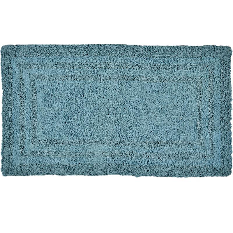 Aqua Mist Cotton Bath Rug 21X34
