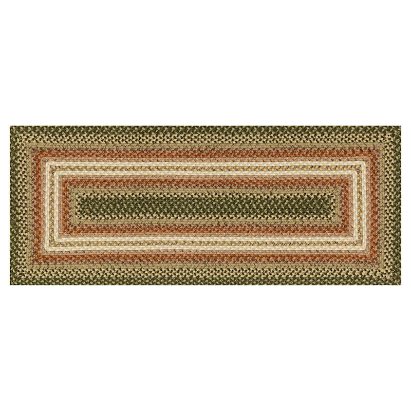 (D69) Lucius Green Multi Braid Runner, 2x5