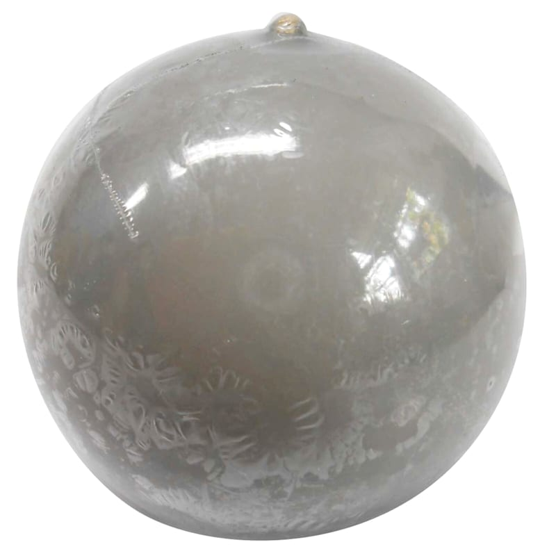 2.8in. Overdip Sphere Candle Grey