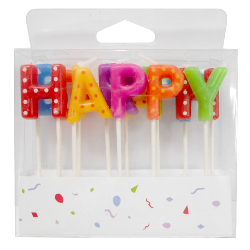 13-Pack Happy Birthday Pick Candle