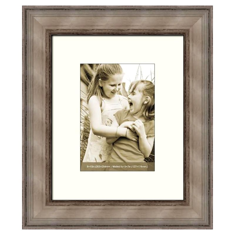 8 X 10-in/ 5 X 7-in Distressed White Frame