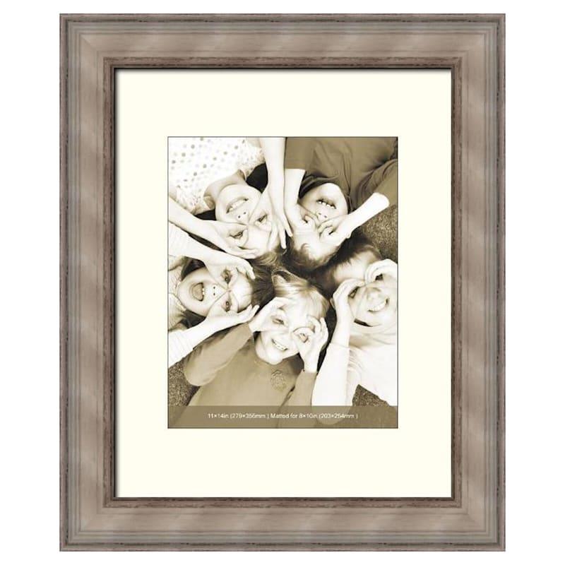 11X14 White Distressed Frame