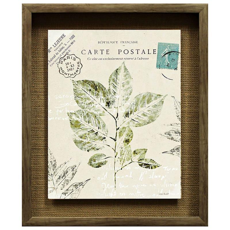 15X18 Forest Study Botanical Under Glass Art