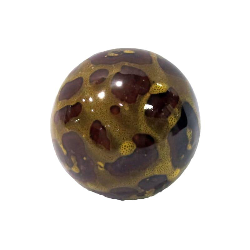3in. Brown Ceramic Orb
