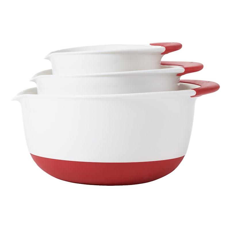 OXO 3-Piece Mixing Bowl Set, White