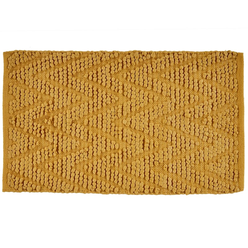 "Chevron Bubble Accent Rug, 1'8"" x 2'10"", Mustard Yellow"