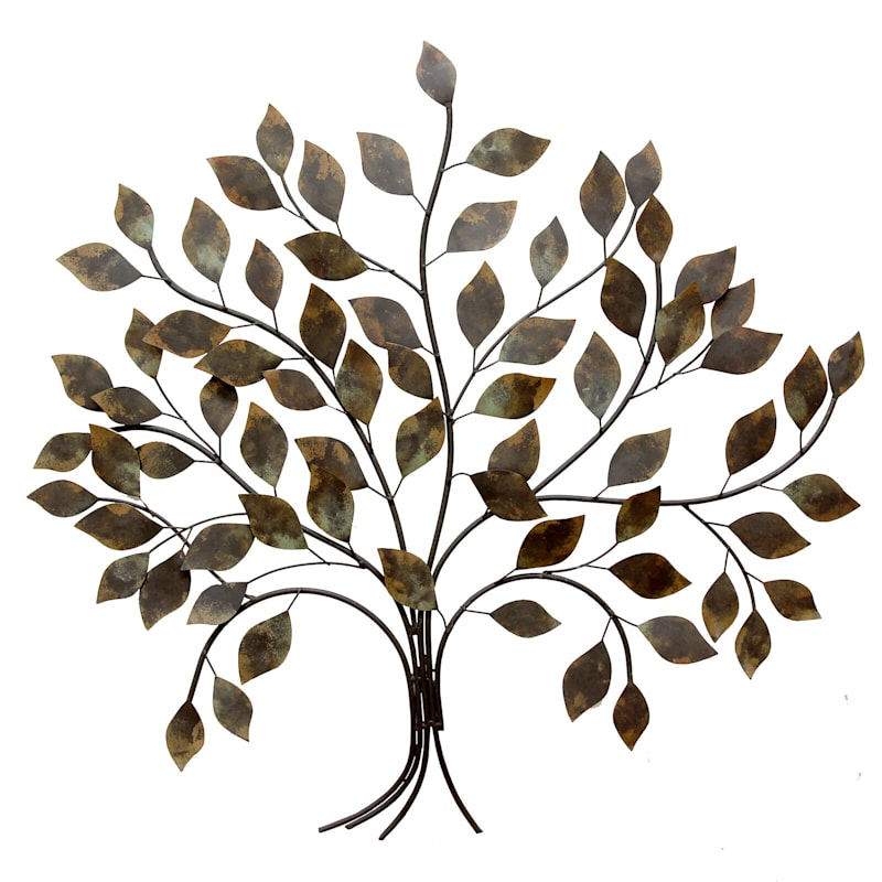 32X30 Bronze Metal Tree Wall Decor