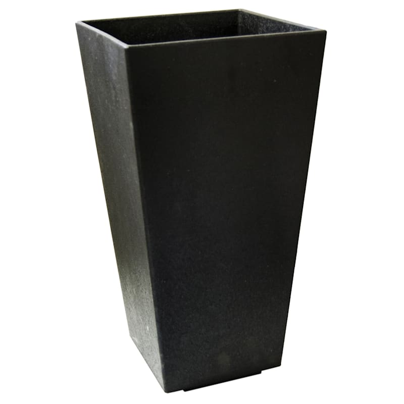Sonata Slate Recycled Rubber Planter 10X11X20
