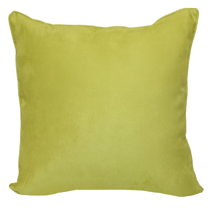 Heavy Suede Toss Pillow, Lime Green
