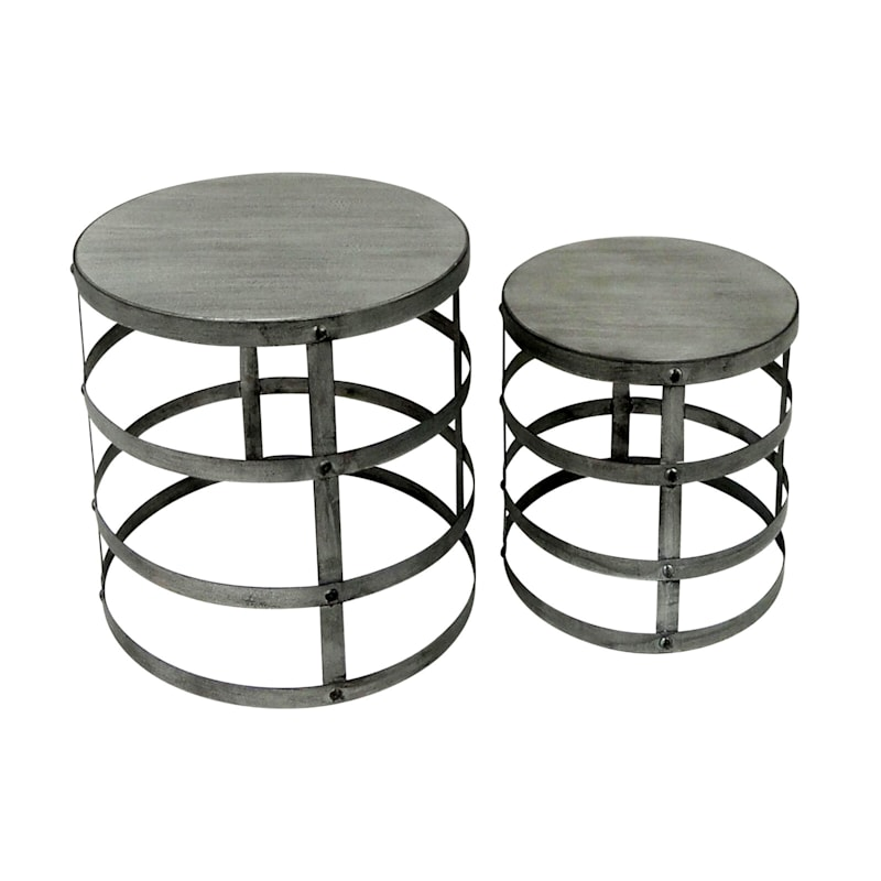 Galvanized Wood-Top Plant Stand (Sold Separately)