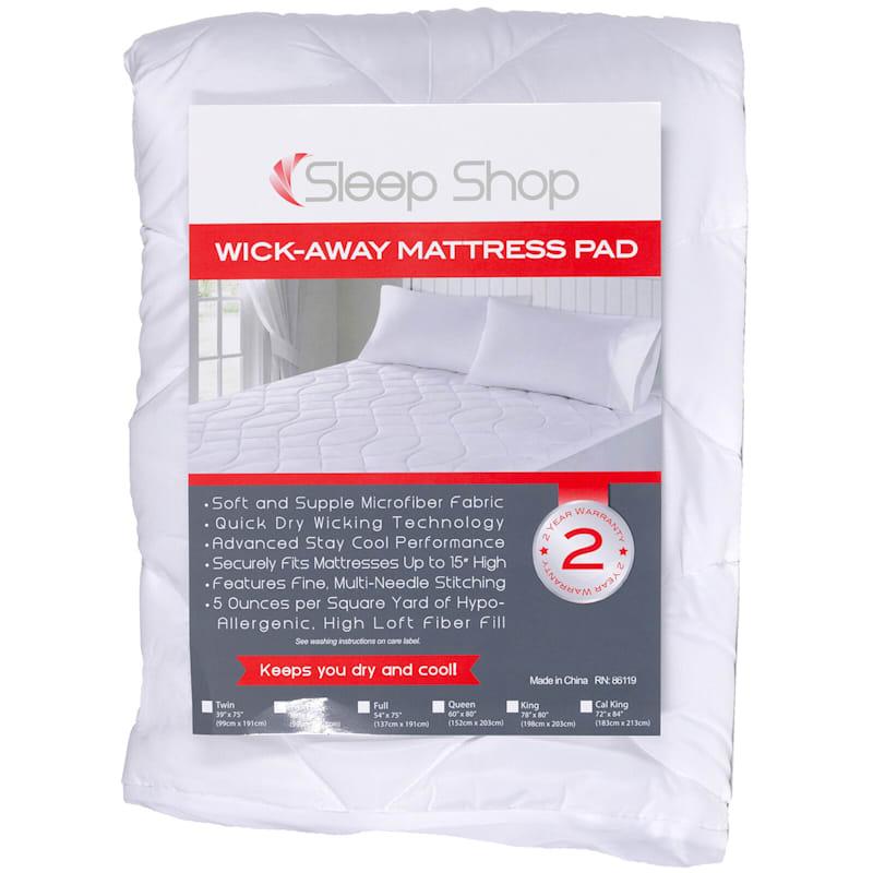 Sleep Shop Wick Away Mattress Pad Twin