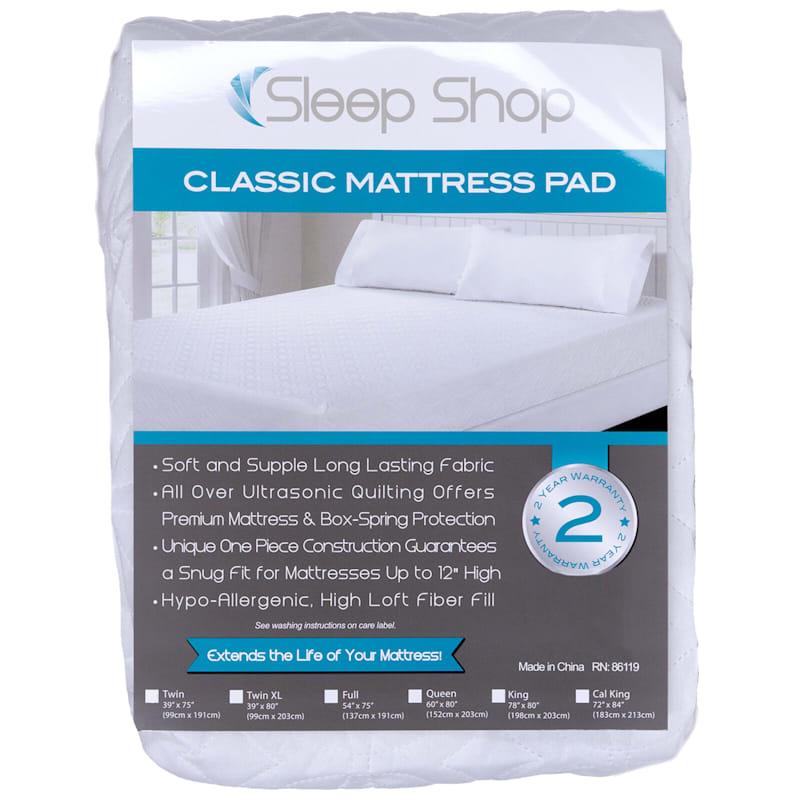 Sleep Shop Classic Mattress Pad Twin