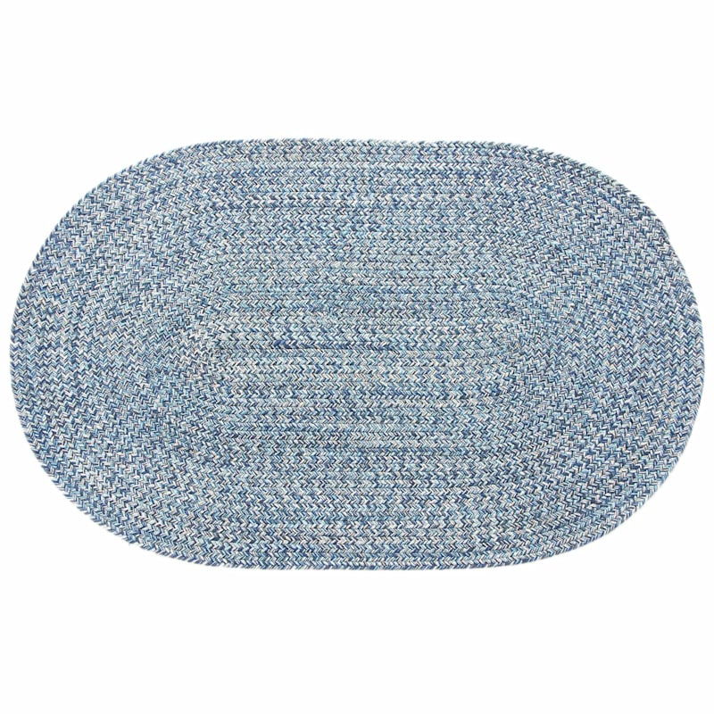 Blue Braided Oval Accent Rug- 21x34 in.