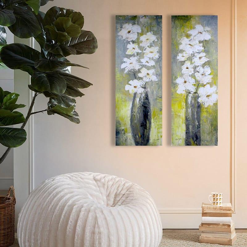 12X36 Floral Still Life Canvas Art